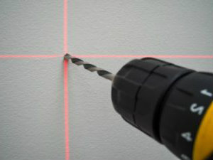 drill and laser level